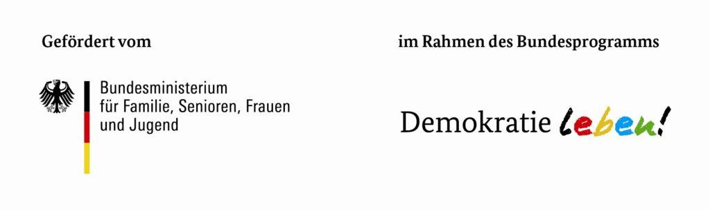 """Logo des Bundesprogramms """"Demokratie leben!"""""""